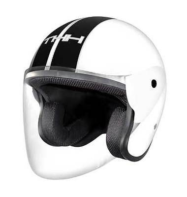 THH Open Face Motorcycle Helmet with Crear Visor T-373