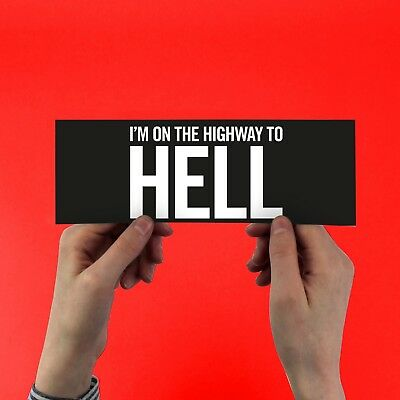 """AC/DC """"Highway to Hell"""" sticker! Brian Johnson, Angus Young, back in black  acdc"""