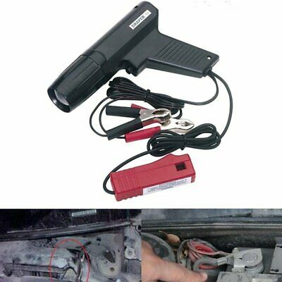 Car Motorcycle Ignition Timing Light Strobe Lamp Inductive Petrol Engine Black #