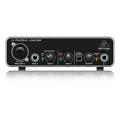 Behringer U-Phoria UMC22 2x2 USB 2 Audio/MIDI Interface
