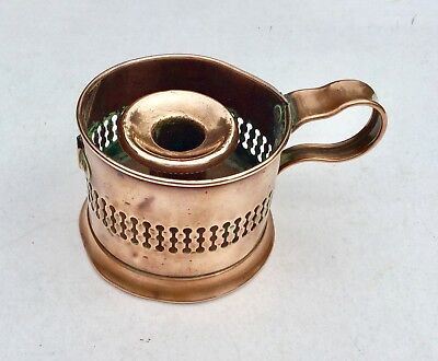 ANTIQUE COPPER CANDLE HOLDER REG TRADE MARK  The base shows the trade mark