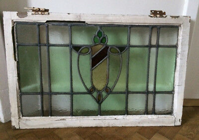 Edwardian Antique Leaded Stained Glass Window