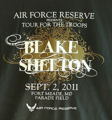 Blake Shelton  2011 Tour For The Troops Ft. Meade  L / Xl Deadstock Shirt New