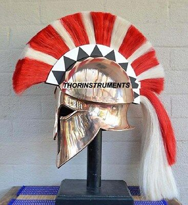 Helmet Armour Roman Medieval Ancient Costume Greek Corinthian with Stand