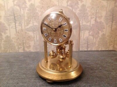 Anniversary Clock Kern & Sohn, 400 Day Torsion Glass Dome Exc.Cond. No Spring