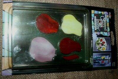 Plaid Stained Glass Inlays - Tulip 16513