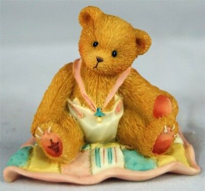 Cherished Teddies A Gift To Behold New Baby Girl Teddy Bear N Quilt Figurine-Mib