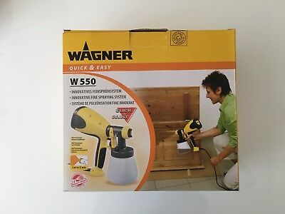 WAGNER W550 Wood and Metal Electric Paint Sprayer 800ml container volume