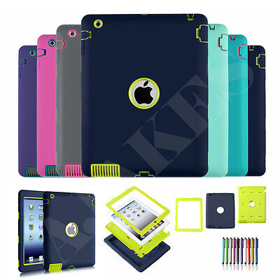 Heavy Duty Kids Safe Hybrid Shock Dirt Proof Case Cover For Apple iPad 2 3 4 9.7
