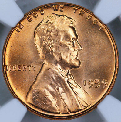 1959 NGC MS66RD Lincoln Cent