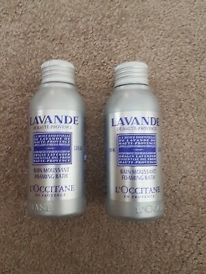 L'Occitane Lavande Lavender Essential Oil Foaming Bath 2 x 100ml Brand New