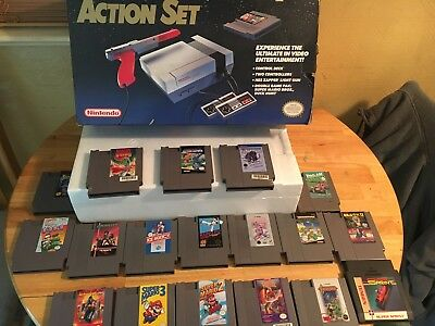 NES Nintendo Action Set With 19 Games Tested But Please Read