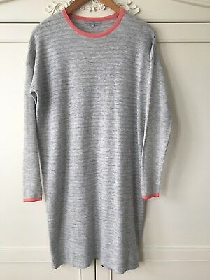 Oliver Bonas Grey & Pink Trim Wooly Dress size 10. Good condition