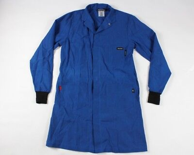 Workrite FR Nomex Small Regular Flame Resistant Full Button Lab Coat Work Coat