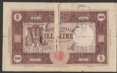 1000 Lire From Italy 1946 Counterfeit