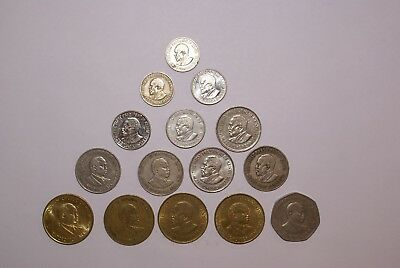 15 DIFFERENT COINS from KENYA (8 TYPES)