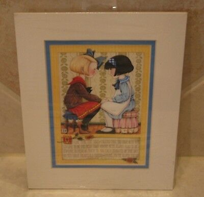"""Mary Engelbreit White Matted Card/Picture 8X10""""-Edgar A. Guest Poem on Friends"""