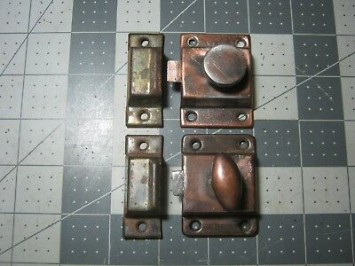 JELLY CUPBOARD CABINET LATCHES DOOR LOCK VINTAGE w/ keepers