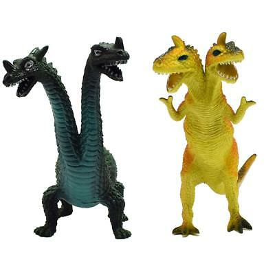 Double-headed Dinosaur Model Double Head Godzilla Monster Mould Kid Gifts Toys