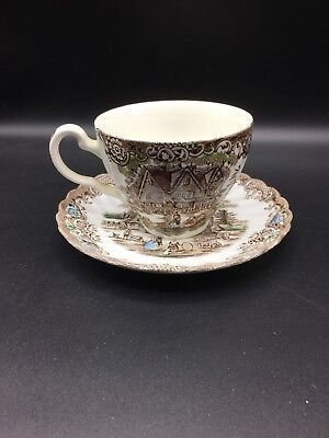 Replacements Heritage Hall Colonial Overhang Cup And Saucer !