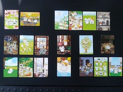 Hamtaro Trading Cards Series 1 Artbox 2002 19 reg cards plus 5 sticker cards vg