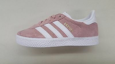 finest selection 47413 c0106 Adidas Originals Gazelle Ice Pink White Gold Pre School Kids Sneakers By9548