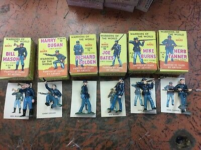 Marx Toy Warriors of the World Union Soldiers 6pc lot nos
