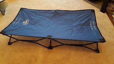 Regalo My Cot Portable Toddler Bed, Includes Fitted Sheet and Travel Case, Royal
