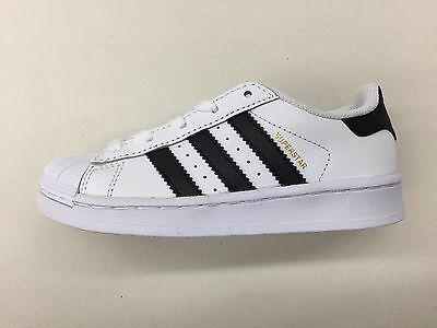 ADIDAS ORIGINALS SUPERSTAR FOUNDATION WHITE BLACK GOLD PRESCHOOL SNEAKERS BA8378