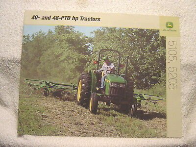 JOHN DEERE 40- and 48-PTO hp 5105 5205 TRACTORS 1979 sales brochure