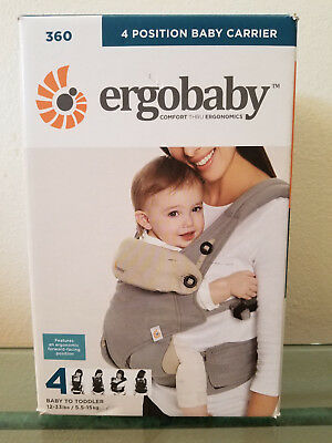 Ergobaby 360 All Carry Positions Award-Winning Ergonomic Baby Carrier Grey