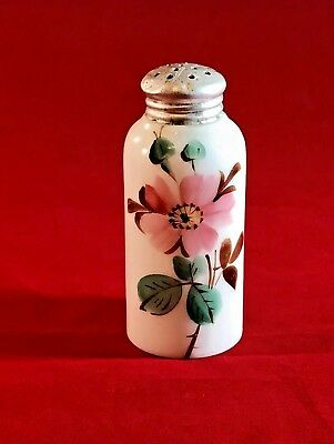 Mt Washington / CF Monroe -Tapered Neck- Glossy Opaque-Salt Shaker- Pink Flower