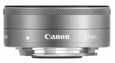 Canon EF-M 22mm f/2 STM SILVER Lens for EOS-M Mirrorless Digital Cameras EMS W/T