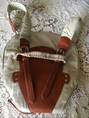 Bill Amberg London Beige Leather Baby Carrier Papoose