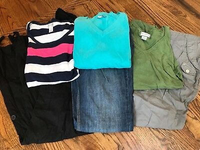 Trendy maternity lot- zip and tie bottoms old navy/motherhood maternity