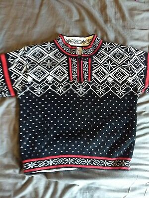Hanna Andersson Zip neck Pullover Sweater Nordic 110 EUC