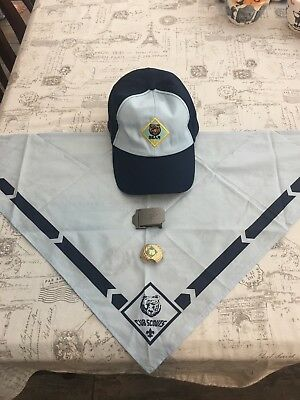 Cub Scouts Bear Hat, Neckerchief, Slide, Belt Buckle