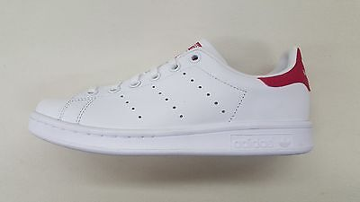 lowest price ac7d9 44643 Adidas Originals Stan Smith White Pink Big Kids Size Classic Sneakers B32703