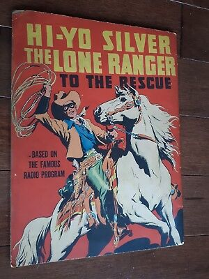 Hi-Yo Silver To The Rescue VG- 1939 Large Feature Book Scarce!