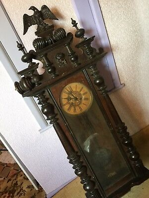 eagle grandfather clock antique 1800 to 1900