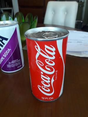 1970 Unopened Empty Coca Cola Coke Pull Tab Soda Can Steel Non-Met Sealed Pop