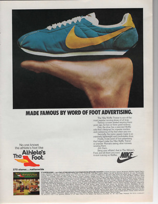 Nike Waffle Trainer Shoe Promo Print Ad The Athlete's Foot Ready To Frame Nike