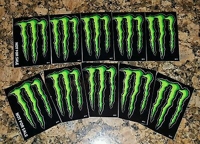 """💣💣💣LOT OF 10 MONSTER ENERGY Drink DECAL STICKER """"4 x 3 inches"""""""