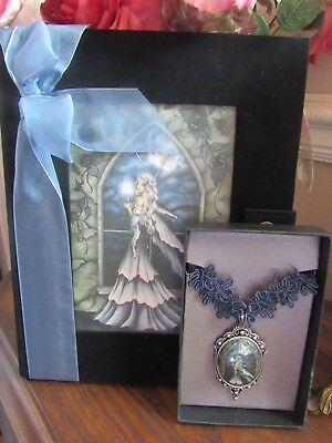 SALE! Jessica Galbreth Dreamkeeper NIGHTFALL Journal & NECKLACE by MUNRO NEW