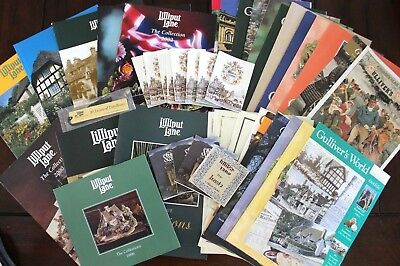 Lilliput Lane Collector's Guide Lot Gullivers World Large lot of guides books