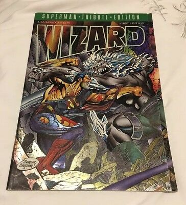 Wizard Comic . First Edition. Superman -Tribute Edition