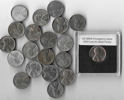 Rare Very Old WWII us Collection USA WW2 Steel Penny Vintage War Big 20 Coin Lot