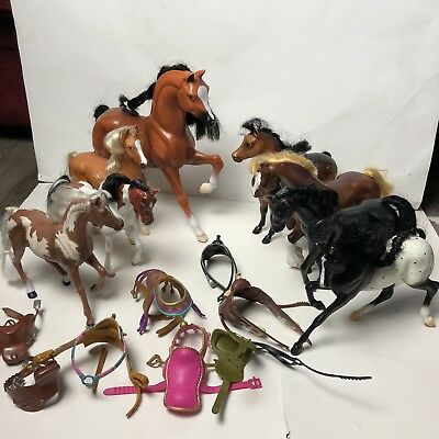 Lot Of Toy Horses And Saddles Breyer Empire Kid Kore Vtg