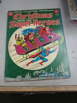 Dc Limited Collectors Edition #c-43 Fine- Christmas With The Super-Heroes 1976