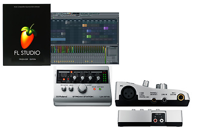 Roland Ua-4Fx2 Stream Station Usb Audio Interface+Fl Studio Producer Software